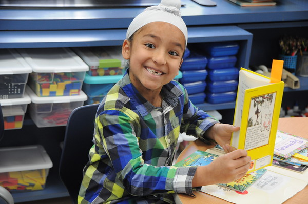 First Graders Create Audiobooks to Share with Kindergarten Friends