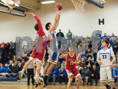 03/05/18  Wesley Bunnell | Staff  Southington basketball defeated Berlin on Monday night at Southington High School in a first round state tournament game. Timothy O'Shea (5) ties the game in the 4th to force OT.