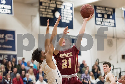 03/12/18  Wesley Bunnell | Staff  New Britain basketball vs Immaculate at Immaculate High School on Monday night. Nyzaiah Diaz (21).