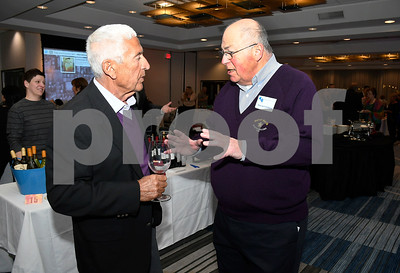 3/10/2018 Mike Orazzi | Staff Morrie Laviero and Marvin Friedman during the Bristol Hospital Development Foundation's Festival of Wines & Spirits held at the DoubleTree by Hilton in Bristol Saturday night. All proceeds from the event help fund the upcoming renovations of the Bristol Hospital Emergency Center.