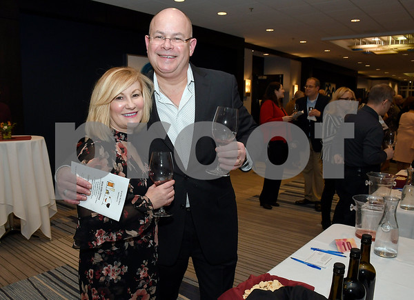 3/10/2018 Mike Orazzi | Staff Bristol Hospital President and CEO Kurt Barwis and his wife Jean during the Bristol Hospital Development Foundation's Festival of Wines & Spirits held at the DoubleTree by Hilton in Bristol Saturday night. All proceeds from the event help fund the upcoming renovations of the Bristol Hospital Emergency Center.