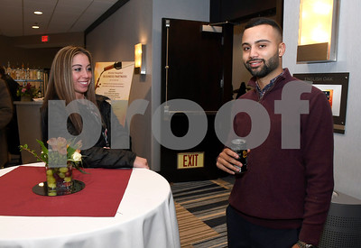 3/10/2018 Mike Orazzi | Staff Spencer Marsella and Josh Rivera during the Bristol Hospital Development Foundation's Festival of Wines & Spirits held at the DoubleTree by Hilton in Bristol Saturday night. All proceeds from the event help fund the upcoming renovations of the Bristol Hospital Emergency Center.