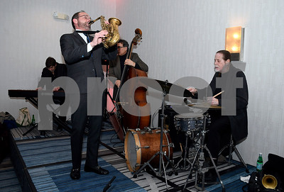 3/10/2018 Mike Orazzi | Staff Members of the Billy Cofrances Jazz Quartet perform during the Bristol Hospital Development Foundation's Festival of Wines & Spirits held at the DoubleTree by Hilton in Bristol Saturday night. All proceeds from the event help fund the upcoming renovations of the Bristol Hospital Emergency Center.