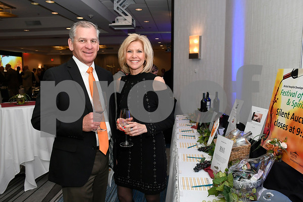 3/10/2018 Mike Orazzi | Staff Gary Sassu and Rita Joy during the Bristol Hospital Development Foundation's Festival of Wines & Spirits held at the DoubleTree by Hilton in Bristol Saturday night.