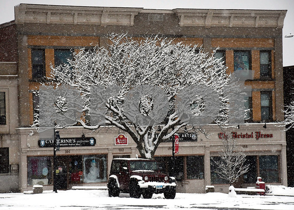 3/13/2018 Mike Orazzi | Staff Main Street in Bristol during Tuesday's storm.