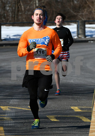 3/17/2018 Mike Orazzi | Staff Kenny Knox takes first place during the 2 mile run and walk during the 16th Annual Shamrock Run and Walk held at the Chippens Hill Middle School Saturday morning.