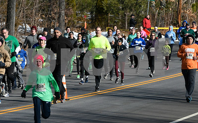 3/17/2018 Mike Orazzi | Staff The start of the 2 mile run and walk during the 16th Annual Shamrock Run and Walk held at the Chippens Hill Middle School Saturday morning.