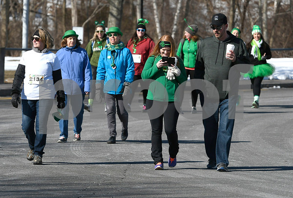 3/17/2018 Mike Orazzi | Staff Participants in the 2 mile run and walk during the 16th Annual Shamrock Run and Walk held at the Chippens Hill Middle School Saturday morning.