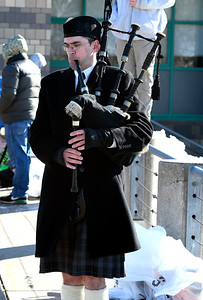 3/17/2018 Mike Orazzi | Staff The bagpipes are played during the 16th Annual Shamrock Run and Walk held at the Chippens Hill Middle School Saturday morning.
