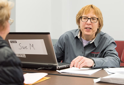 03/20/18  Wesley Bunnell | Staff  AARP Tax-Aide Volunteer Sue Myskowski assists Erika Swenson of Berlin at the Berlin-Peck Library on Tuesday afternoon. The tax preparation program is funded by the AARP Foundation and the IRS and helps over 25,000 seniors across CT.  Upcoming locations include the Berlin-Peck Library, New Britain Senior Center, Newington Library, Plainville Senior Center, Southington Senior Center and the Bristol Senior Center. Potential volunteers can find more information at www.aarpfoundation.org/taxaidevolunteer .