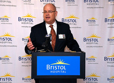 3/22/2018 Mike Orazzi | Staff Kurt Barwis. President and CEO, Bristol Hospital and Health Care Group, during a ribbon cutting event for its new nursing simulation room on Level B of the hospital's Center for Surgery and Endoscopy.