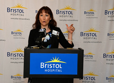 3/22/2018 Mike Orazzi | Staff Bristol Hospital's Chris Ann Meaney during a press conference about the hospital's ribbon cutting event for its new nursing simulation room on Level B of the hospital's Center for Surgery and Endoscopy.