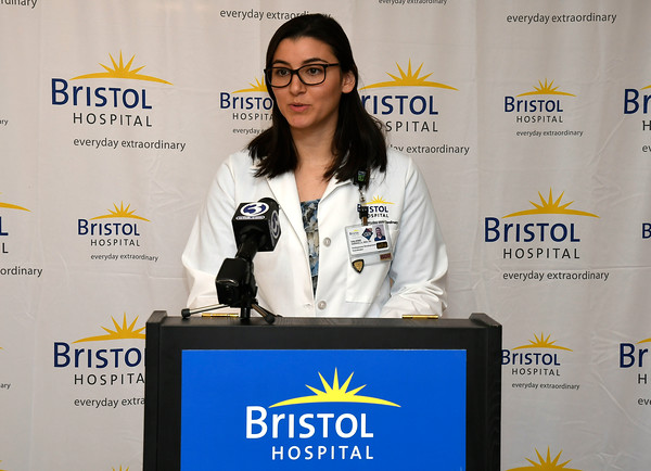 3/22/2018 Mike Orazzi | Staff Bristol Hospital's Valerie Varanelli during a press conference about the hospital's ribbon cutting event for its new nursing simulation room on Level B of the hospitals Center for Surgery and Endoscopy.