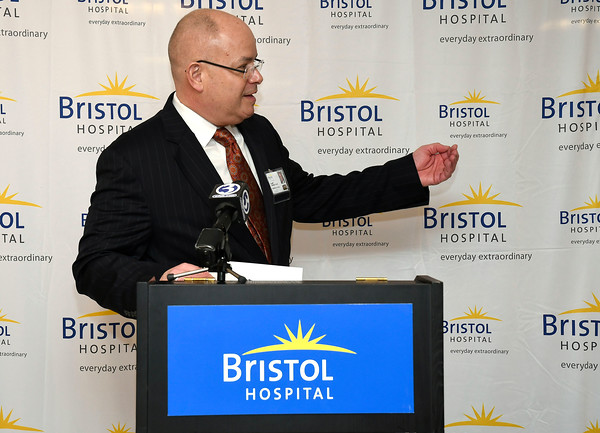 3/22/2018 Mike Orazzi | Staff Kurt Barwis. President and CEO, Bristol Hospital and Health Care Group, during a ribbon cutting event for its new nursing simulation room on Level B of the hospitals Center for Surgery and Endoscopy.