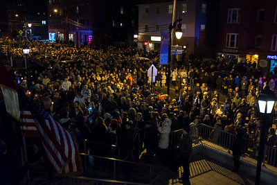 03/30/18  Wesley Bunnell | Staff  Sacred Heart Church held a Stations of the Cross on Friday night featuring a procession up Broad St looping back around to finish at the church. The crowd gathers back in front of the church at the end of the procession.