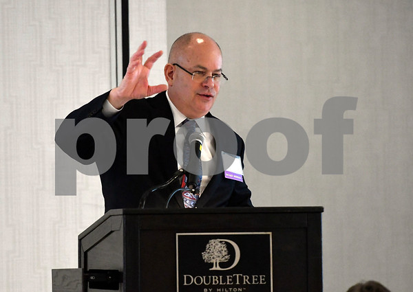 3/7/2018 Mike Orazzi | Staff Kurt Barwis. President and CEO, Bristol Hospital and Health Care Group, during the hospital's annual meeting held at the DoubleTree by Hilton Hotel in Bristol Wednesday morning.