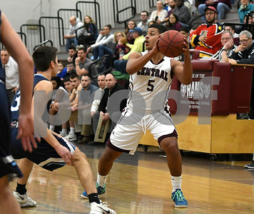 3/9/2017 Mike Orazzi   Staff Bristol Central's Isaiah Miller (5) during the second round of the Division II of the CIAC State Boys Basketball Tournament in Bristol Friday night.