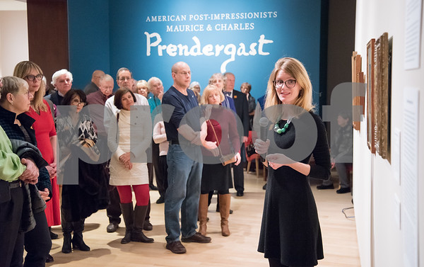03/08/18 Wesley Bunnell | Staff Curator of the New Britain Museum of American Art Lisa Williams led a presentation on American Post-Impressionists: Maurice & Charles Prendergast Thursday night at the museum.