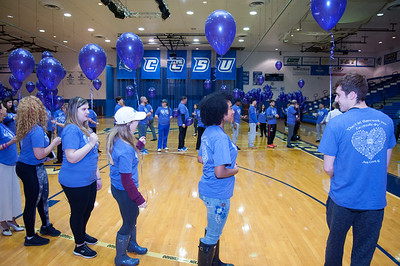 04/04/18  Wesley Bunnell | Staff  The CCSU Ana Grace Project will kicked off April is for Ana month Wednesday April 4 which is the birthday of Ana Grace Marquez-Greene, who was one of the children killed in the tragic Sandy Hook school shooting. The project asks participants to commit random acts of kindness throughout the month. Balloons are passed out as participants spell out Ana on the Detrick Gymnasium floor.