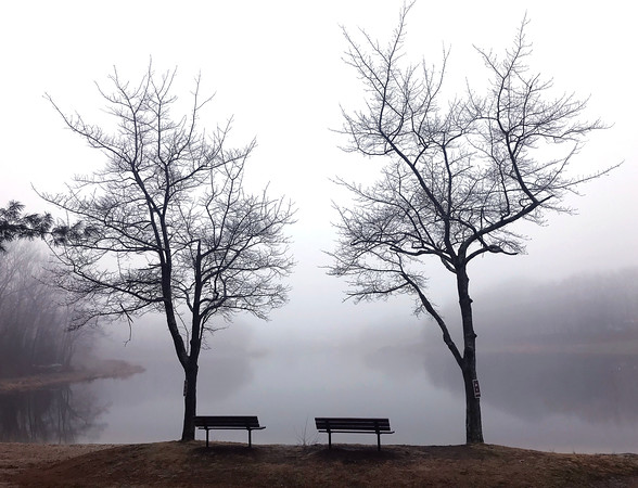 4/4/2018 Mike Orazzi | Staff Fog at Lake Winfield in Plymouth Wednesday.
