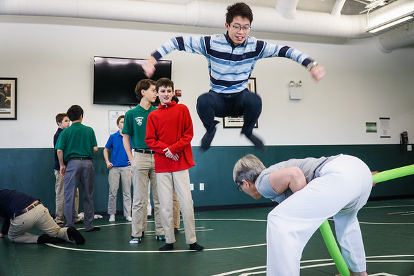 Seventh Graders Learn Tae Kwon Do
