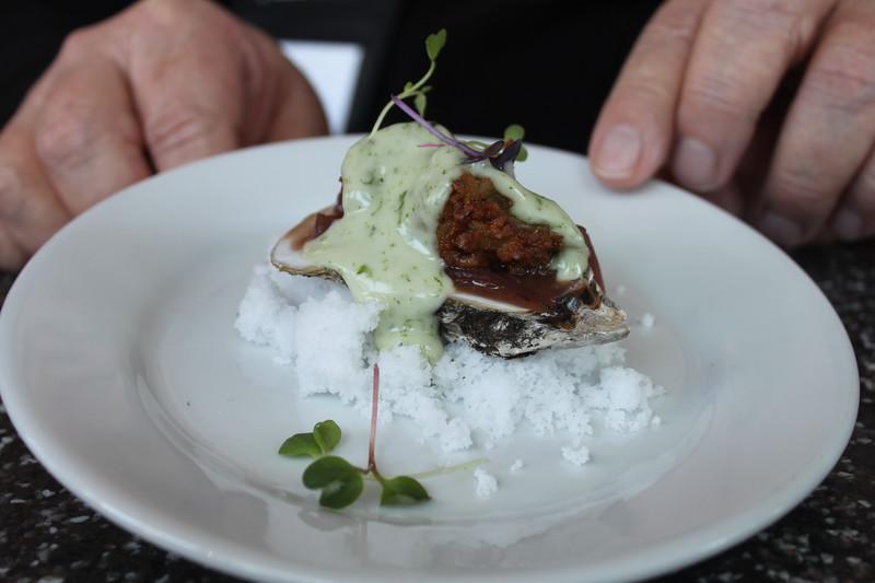 Charred oyster biloxi