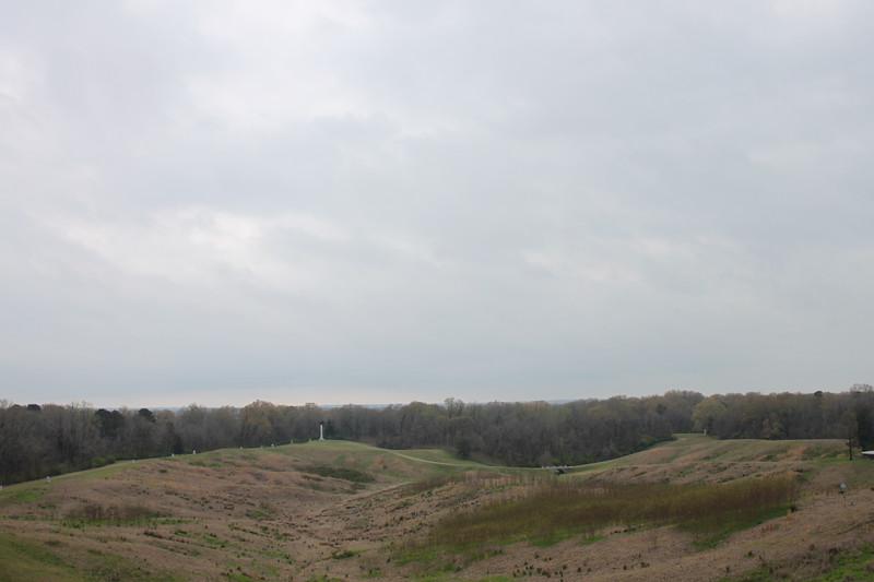 Rolling hills at Vicksburg Battlefield