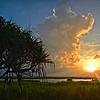 """Sunset, Pandanus Viewing Area, Townsville Common."""