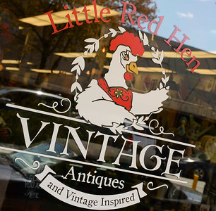 The store front of Little Red Hen Vintage Hen in downtown Chico on Friday, March 29. (Matt Bates -- Enterprise-Record)