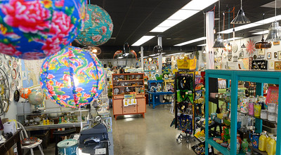 The inside of Little Red Hen Vintage Hen in downtown Chico on Friday. All of the sales from the Little Red Hen stores in Chico go toward programs for children and adults with developmental disabilities. (Matt Bates -- Enterprise-Record)