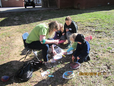 Painting rocks for the rock sanctuary at SES