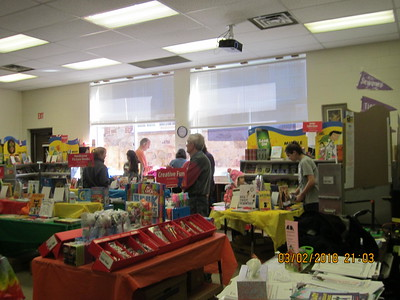 Organizing the library for the book fair at SES