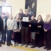 "SUBMITTED PHOTO | <br /> Substance Abuse Pittsburg County Taskforce awarded a certificate of appreciation to Great Balls of Fire for their day the two partnered on the ""Strike Up the Conversation Town Hall Meeting"" in November."