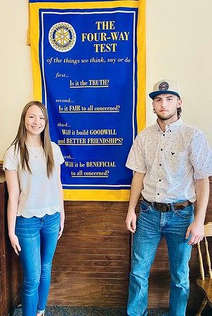 SUBMITTED PHOTO | <br /> Rotary Club of McAlester has named McAlester High School Seniors Madison McMahan, left and Caleb Williams as the club's Seniors of the Week.
