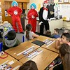 SUBMITTED PHOTO | <br /> Dr. Seuss characters The Cat in the Hat, Thing One and Thing Two were on hand Friday to celebrat Dr. Seuss Birthday with Emersone Elementary students.