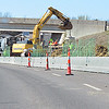 KEVIN HARVISON |<br /> Work continues near the State Highway 31 overpass and U.S. Highway 270 in Krebs.