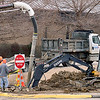KEVIN HARVISON |<br /> McAlester city crew work Friday on water line that has caused previous issues at Parker Middle School.<br /> .