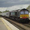 Still in DRS colours 66420 passes March with 4L85 Leeds - Ipswich on 11th May 2013