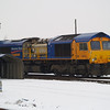 66718 at the Electromotive shed at March on 19th Jan 2013