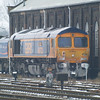 66730 sits at the side of the Electromotive shed at March on 19th Jan 2013