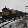 66137 heads through March on 6M70 Chesterton Jn - Mountsorrel Lafarge 19th Jan 2013