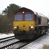 66160 heads to Whitemoor on 0G08 Peterborough - Whitemoor Yd passing Norwood Rd LC on 19th Jan 2013