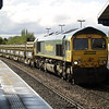 66620 heads out of Whitemoor, and through March with 6Y73 Whitemoor - Ruckholt Rd Jn on 11th May 2013