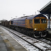 66719 leads 6T66 Whitemoor Yd - Carpenters Rd South Jn ballast through March on 19th Jan 2013