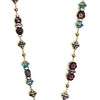 7483-RS CO145  VINTAGE CZECH REPUBLIC BEADS AND RHINESTONES  WITH A LARGE CROWN PENDANT  28""