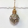 8553-RS CO47 BRONZE CROWN ON BIG RHINESTONE BALL