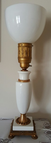 Pair of electrified oil lamps