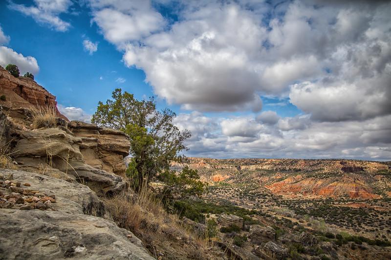 Along the Rim of Palo Duro Canyon