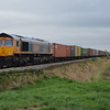 66754 4L20 Hams Hall - Parkeston Quay passes Middle Rd LC