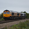 66724 + 66748 0E05 Felixstowe - Peterborough GBRf pass Silt Rd LC